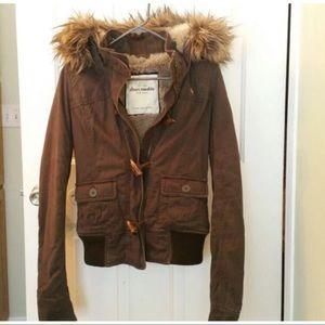 Abercrombie & Fitch fur jackets x-large